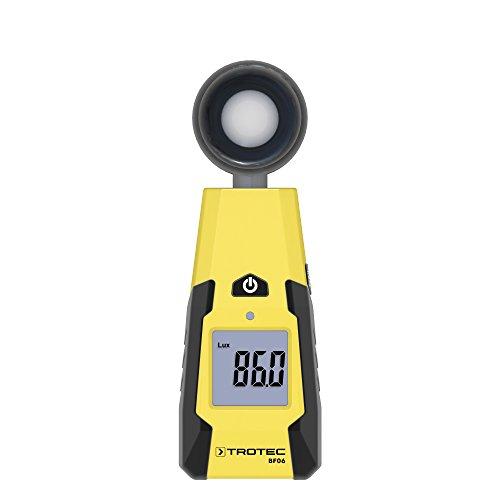 TROTEC BF06 Luxmeter Lichtstärkemessung Detektor Infrarot-Filter Messung von Beleuchtungsstärke und Lichteinfall