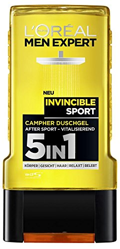 L'Oréal Men Expert Duschgel Invincible Sport, 3er Pack (3 x 300 ml)