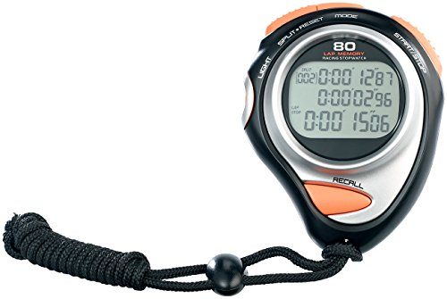 PEARL sports Stopuhr: Fitness-Stoppuhr Premium, 3-Zeilen-Display, 30 Speicher (Digitale Stoppuhren)