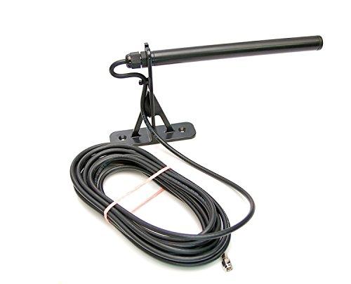 Alda PQ wetterfeste Antenne, Außenantenne zur Wandmontage für 3G, UMTS, 2G, GSM Mobilfunk Netze und Bluetooth, WLAN, WIFI mit SMA/M Stecker, 250cm, 2,5m Kabel, für innen oder Außenbereich einsetzbar