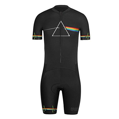 Uglyfrog Bike Wear Radsport Bekleidung Herren Summer Style Triathlon Tri Anzug Kompression Duathlon Laufen Fahrradfahren Skinsuit with Gel Pad DEHDLT02