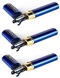 VEVESMUNDO Lesebrille Metall Klassische Scharnier Schmal Stil Brille Lesehilfe Augenoptik Vollrandbrille Mit Etui (3 Stück blau Lesebrillen, 2.0)