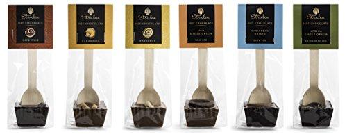 Struben Trinkschokolade am Stiel Collection - Geschenk Set von 6 Stück - Milch und Dunkle Kuvertüreschokolade -