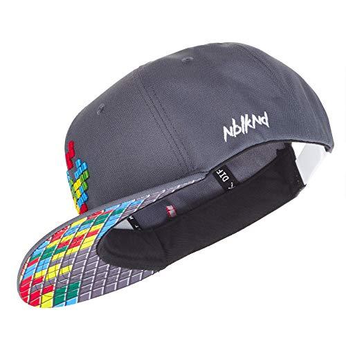 Nebelkind Unisex Snapback Cap Pixel Kappe Grau One Size