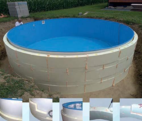 Summer Fun Beckenverschalung (kein Beton notwendig) für Rundpools mit breitem Handlauf 3,50m x 1,20m