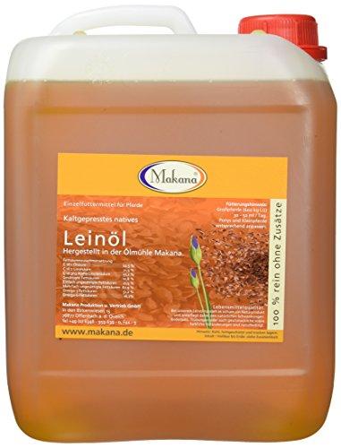 Makana Leinöl für Tiere, kaltgepresst, 100% rein, 5000 ml Kanister (1 x 5 l)