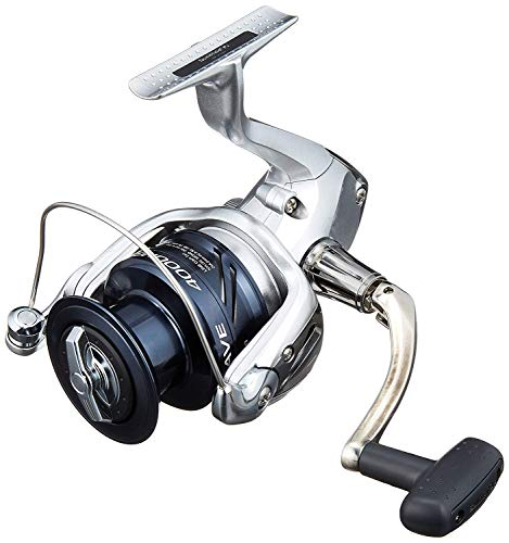 SHIMANO Nexave 4000 FE, Spinning Angelrolle mit Frontbremse, NEX4000FE
