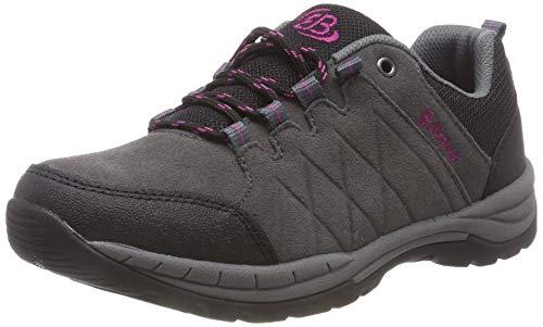 Bruetting Damen Walker Walkingschuhe, Grau/Schwarz/Pink, 39 EU