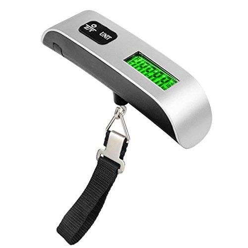 ueetek 50kg/110lb LCD Display Skala von Gepäck, Gleichgewicht Elektronische Skala Digitale Aufbewahrungsschuppen Gepäck
