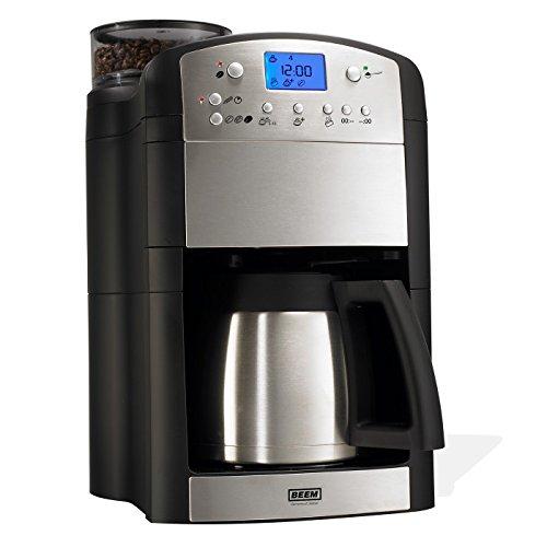 BEEM 02049 Fresh-Aroma-Perfect Thermolux (Verbesserte Version 2017!) | Kaffeemaschine mit Mahlwerk (92°C, 1000 Watt) | Für 2-10 Tassen | inkl. Umfangreichem Zubehör | Silber