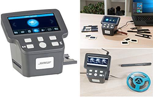 Somikon Negativscanner: Stand-Alone-Dia-, Negativ- & Super-8-Scanner, 12,5-cm-Farbdisplay (5') (Diabetrachter)