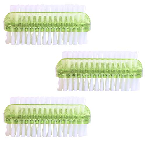 PARSA 3er Pack/Stück doppelseitige Bürsten Grün/Lime im Set Nagelbürsten/Handwaschbürste für Bad, WC, Waschbecken, Werkstatt