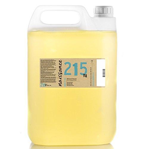Naissance reines Mandelöl süß (Nr. 215) 5 Liter (5000ml) - Vegan, gentechnikfrei - Ideal zur Haar- und Körperpflege, für Aromatherapie und als Basisöl für Massageöle