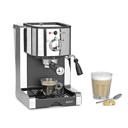 BEEM ESPRESSO PERFECT   Espresso-Siebträgermaschine mit Kapseleinsatz für Nespresso(*) Kapseln - 20 bar   BASIC SELECTION   Milchschaumdüse   Kaffeepulver, pads, kapseln
