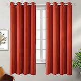 Vorhang blickdichte Vorhänge mit Ösen 137 cm x 117 cm (H x B), Grau 2 Stücke Verdunkelungsvorhänge Isolierung, Dekorative und Undurchsichtig, Schutz der Privatsphäre für Zimmer