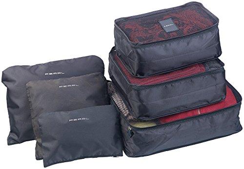 PEARL Koffer Organizer: 6er-Set Kleidertaschen für Koffer, Reisetasche & Co, 6 Größen (Kleidertaschen für Rucksack)