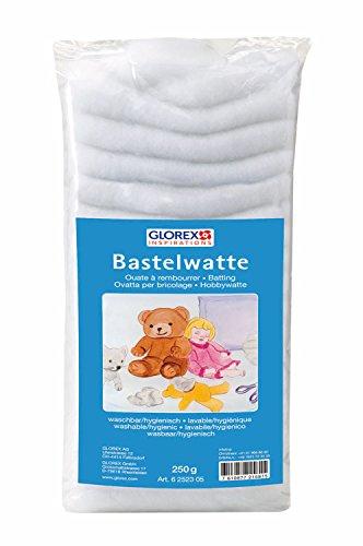 GLOREX 6 2523 05 Bastelwatte Weiss 250g, 47 x 20 x 10 cm