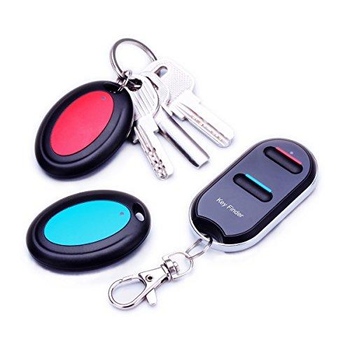vodeson Tragbare elektronische Schlüsselanhänger Finder Wireless Wallet Locator (2 Empfänger)