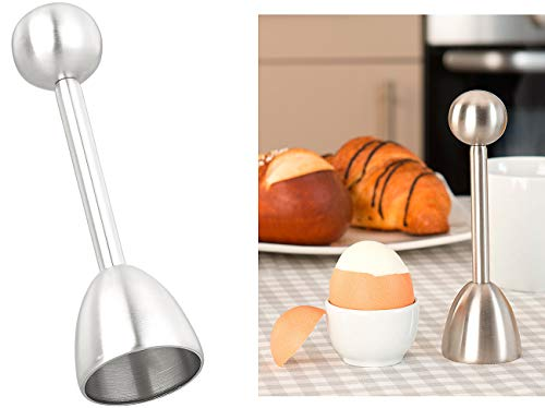 Rosenstein & Söhne Eiköpfer: Eierköpfer und Eieröffner aus Edelstahl, für harte und weiche Eier (Eiöffner)