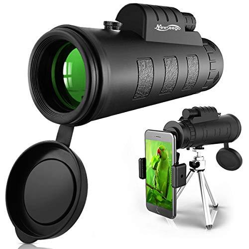 Newseego 50X60 Monokular Teleskope mit Telefonklammer & Stativ, Hochleistungs HD Monokular Teleskop wasserdichte Handy Fernrohr für Vogelbeobachtung, Camping, Wandern Reisen