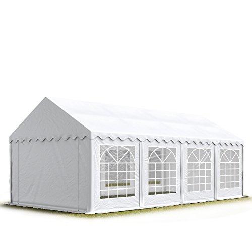 Party-Zelt Festzelt 4x8 m Garten-Pavillon -Zelt 500g/m² PVC Plane in weiß Wasserdicht