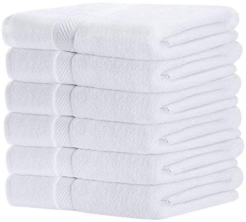 Badetücher Set - Lightweight Multipurpose Schnelltrocknendes Handtuch - High Absorbency (6 Pack,Weiß, 56 x 112 cm) - von Utopia Towels
