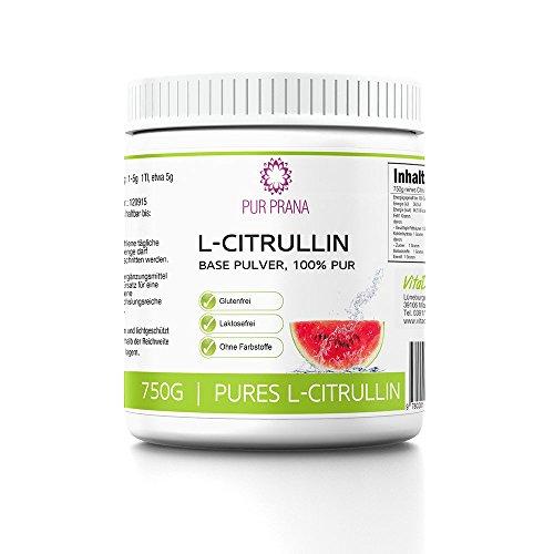 L Citrullin 100% Pure kein Malat, Vitalstoff, Aminosäure, steigert die Arginin Wirkung, fördert den Muskelaufbau und die Durchblutung, Base Pulver als Vegan Nahrungsergänzung, Pur Prana (750g)