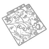 SUPVOX Blumen Schablone mit Libelle Zeichenschablonen Malschablonen Weihnachten Stanzschablone Stanzformen für Kinder DIY Bullet Journal Album Scrapbooking Papier Karte Deko