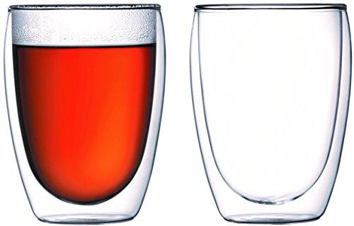 Bodumpavina 2-teiliges Gläser-Set (Doppelwandig, Isoliert, Mundgeblasen, 0,35 liters) transparent