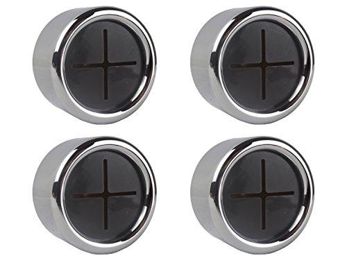 4 Premium Handtuchhalter im Set für Bad, Küche und Haushalt aus Edelstahl - Geschirrtuchhalter - Handtuchhaken - Rund - Chrom - selbstklebend ohne bohren