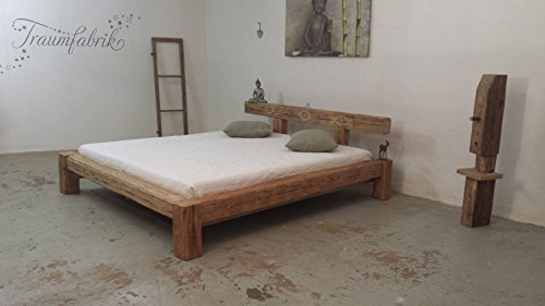 Altholzbett Luxusbett Designerbett mit Swarovski Kristalle