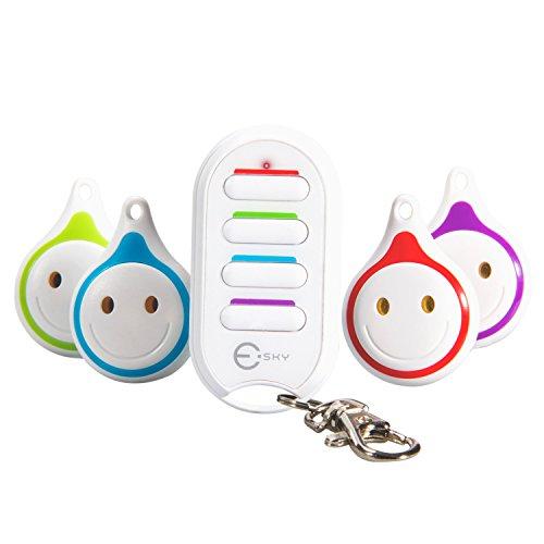 Wireless Schlüsselfinder, Esky Key Finder ES-KF03 kabelloser RF Gegenstandfinder Locator, Fernbedienung, 1 RF Transmitter Sender und 4 Receiver Empfängsgeräten