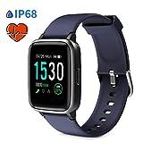 Glymnis Smartwatch Smart Uhr Sport Uhr Fitness Armband mit Schrittzähler Schlafanalyse Touchscreen 50 M Wasserdicht IP 68 Armbanduhr 30 Tage Standby 1,3' großer Bildschirm für Android iOS