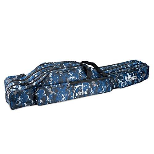 WATERFLY Angeltasche Rutentasche Tragbare 120cm Angelkoffer Allround Angelrute Rutenfutteral Wasserdichte Große Kapazitäts - 2 Fächer