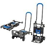 COSCO Shifter 135kg Multi Funktion klappbar Handwagen und Sackkarre (Blau)