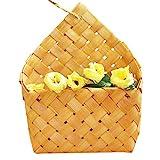 EisEyen Blumenkorb Obstkorb Frucht Geflochtene Wandbehang Blumenkorb Wandspeicher Blume Pflanze Korb für Heimtextilien