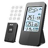 ALIENGT Wetterstation Funk mit Außensensor Weather Station Funkwetterstation - Hygrometer innen und außen Digital Outdoor Thermometer Wecker digital Funkuhr Funkthermometer