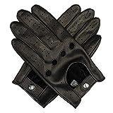 Harssidanzar Herren Autohandschuhe Lederhandschuhe Unliniert