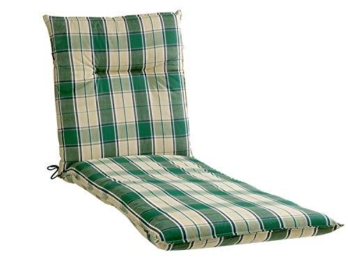 Liegenauflage Polsterauflage Gartenauflage   Beige-Grün   60 x 200 cm   Baumwoll-Mischgewebe