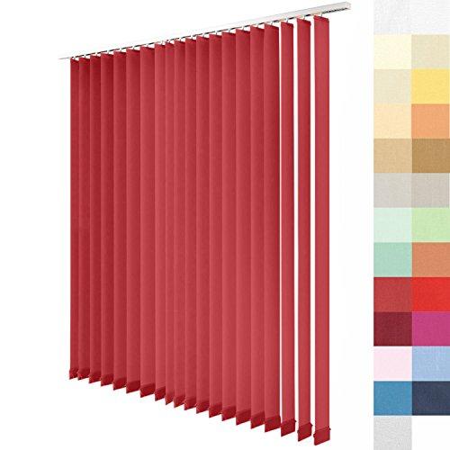 SUNWORLD Lamellenvorhang nach Maß, 27 Farben, alle Größen Lamellen, Maßanfertigung, inkl. Deckenschiene, Schiebevorhang, Vertikaljalousie (Fuchsia, Höhe: 165cm x Breite: 100cm)