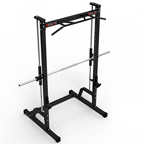 MegaTec Multipresse / Free-Rack mit Multi-Grip Klimmzugstation / Scheibenaufnahme 30 mm