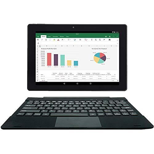 [2 Bonusgegenstand] Simbans TangoTab 10-Zoll-Tablet mit Tastatur 2-in-1-Laptop | Android 8 Oreo, 2 GB RAM, 32 GB Festplatte