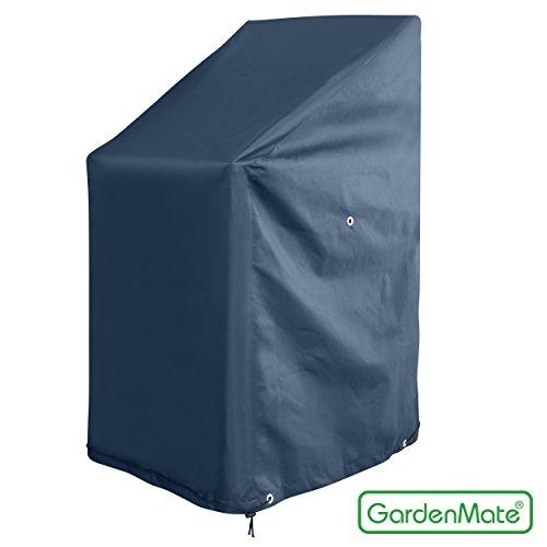 GardenMate OXFORD Polyester Schutzhülle für Gartenstühle 65 x 65 x 80/120 cm - Premium Qualität aus hochwertigem 220GSM Oxford Polyester Material - Anthrazit