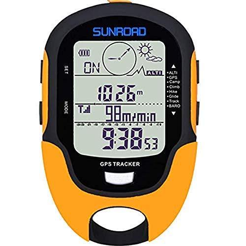 Sunroad GPS Digital Wasserdicht Outdoor Höhen Vorwarnung Erinnerung Kompass Stoppuhr Sport Höhenmesser Barometer Wetter Forcast Schrittzähler Wandern