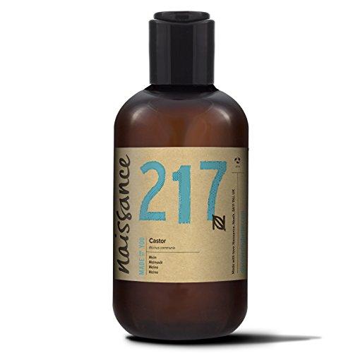 Naissance kaltgepresstes Rizinusöl 250ml - reines, natürliches, veganes, hexanfreies, gentechnikfreies Öl - pflegt und spendet Feuchtigkeit für Haare, Wimpern und Augenbrauen