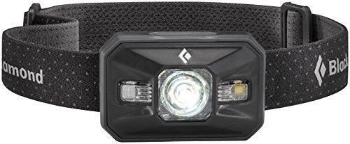 Black Diamond Storm Stirnlampe Black / Robuste und wasserdichte Kopflampe mit 8 verschiedenen Beleuchtungsoptionen inkl. RGB-Nachtsichtmodus / Max. 350 Lumen