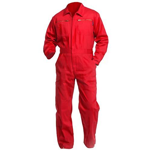 Sweat Life Herren Overall Arbeitsanzug Rot (52)