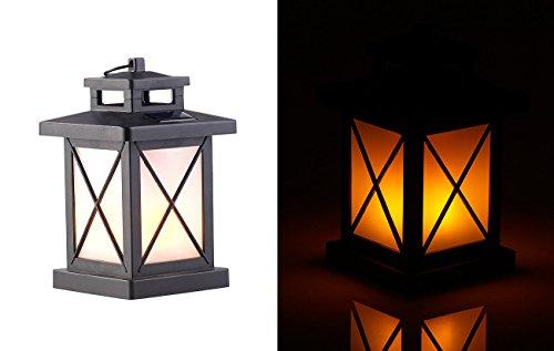 Lunartec Laterne: Solar-Gartenlaterne mit 32 Flammeneffekt-LEDs, Lichtsensor, Akku, IPX3 (Bodenlaterne)