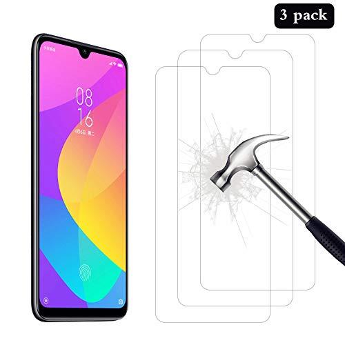 AhaSky 3 Stück Schutzfolie für Xiaomi Mi A3 Panzerglas, HD Displayschutzfolie, 9H Härte Schutzfolie, Anti-Kratzer/Bläschen/Fingerabdruck/Staub Panzerglasfolie für Xiaomi A3