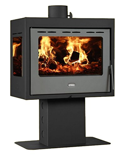 13kw. Holzofen Kamin Panorama Herd-Front and Seite Glass Prity PM3L